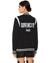 Givenchy Oversized Logo Knit Bomber Jacket