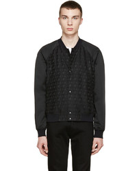 Paul Smith Ps By Black Palm Tree Bomber Jacket