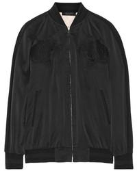 Rag and Bone Rag Bone Rag Bone Akita Reversible Washed Silk Bomber Jacket