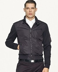 Ralph Lauren Black Label Mixed Media Bomber Jacket