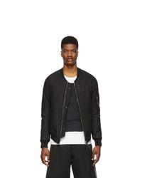 11 By Boris Bidjan Saberi Reversible Black Dont Bomber Jacket