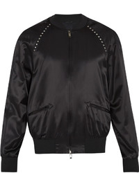 Valentino Rockstud Untitled 14 Satin Bomber Jacket