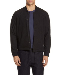 Acyclic Slim Fit Knit Coachs Jacket
