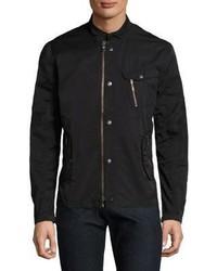 John Varvatos Star Usa Bomber Zip And Snap Front Jacket