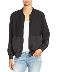 Missguided Tonal Satin Bomber Jacket