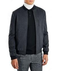 Topman Black Bomber Jacket