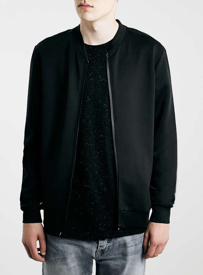 Topman Black Technical Fabric Bomber Jacket | Where to buy & how ...