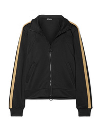 All Access Tune Up Metallic Striped Stretch Jersey Track Jacket