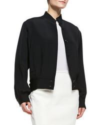 Vince Tamara Mellon Silk Bomber Jacket