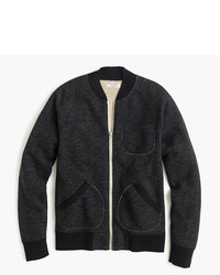 3544ac1c8 Men's Black Bomber Jackets by J.Crew | Men's Fashion | Lookastic.com