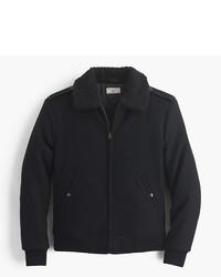 J.Crew Wallace Barnes Sherpa Collar Wool Bomber Jacket