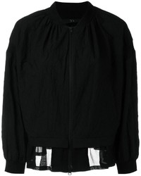 Y's Sheer Hem Bomber Jacket