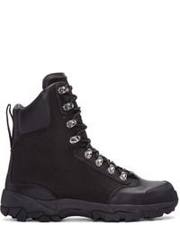 Marcelo Burlon County of Milan Black Hiking Combat Boots
