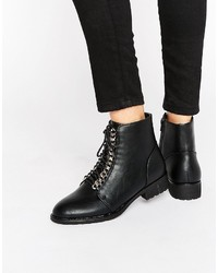 Boohoo Chain Detail Lace Up Hiker Boot
