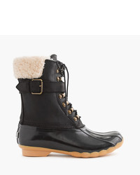 J.Crew Sperry For Shearwater Buckle Boots In Black