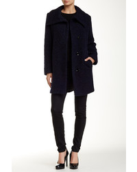 Cole Haan Boucle Wool Blend Coat