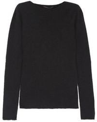 Cashmere and silk blend boucl sweater medium 95849