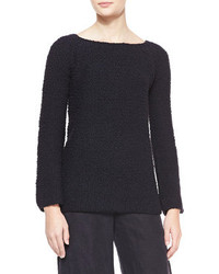Woolcashmere boucle sweater black medium 95850