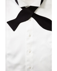 David Donahue Bow Tie Black Satin Regular