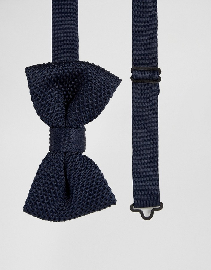 French Connection Knitted Bow Tie Where To Buy How To Wear