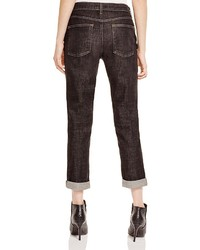 Eileen Fisher Boyfriend Jeans In Vintage Black