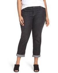 Eileen Fisher Plus Size Stretch Denim Boyfriend Jeans