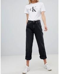 Calvin Klein Jeans To Asos American Classic High Rise Straight Leg Jeanwash