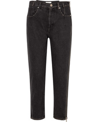 3.1 Phillip Lim Zip Embellished High Rise Tapered Jeans
