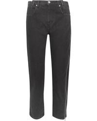 3.1 Phillip Lim Zip Embellished Slim Boyfriend Jeans Black