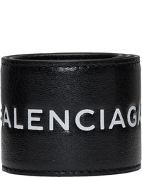 Balenciaga Black Cycle Logo Bracelet