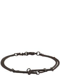 DSQUARED2 Black Double Cross Bracelet