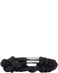 DSQUARED2 Black Knotted Rope Bracelet