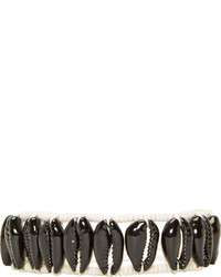 Isabel Marant Black Seashell Wild It Bracelet