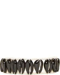 Isabel Marant Black Seashell Wild It Bracelet