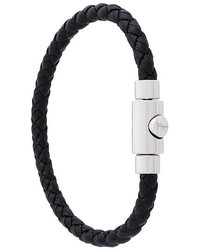 Salvatore Ferragamo Braided Press Clasp Bracelet