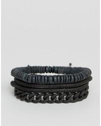 Aldo Chain Bead Bracelets In 4 Pack