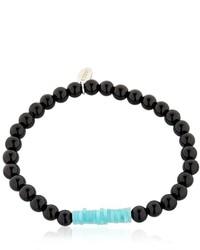 Eton Black Agate Beaded Bracelet