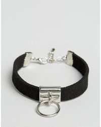 Asos Faux Suede Ring Bracelet