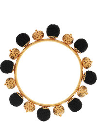 Dolce & Gabbana Gold Plated And Woven Bangle