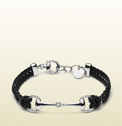 20277975a Gucci Black Leather Bracelet With Horsebit, $350 | Gucci | Lookastic.com
