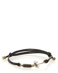 Tomas Maier Palm Charm Cord Bracelet