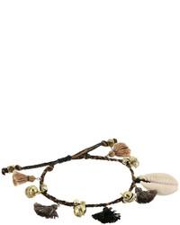 Chan Luu Pull Tie Bracelet W Shells Tassels Bracelet