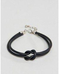 Asos Rubberised Bracelet With Knot