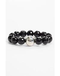 Simon Sebbag Stretch Bracelet Silver Black Onyx