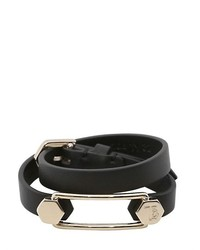 Tod's Wrap Around Leather Bracelet With Pin