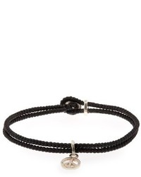 Paul Smith Waxed Rope Peace Bracelet