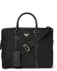 Leather trimmed nylon briefcase medium 4110394