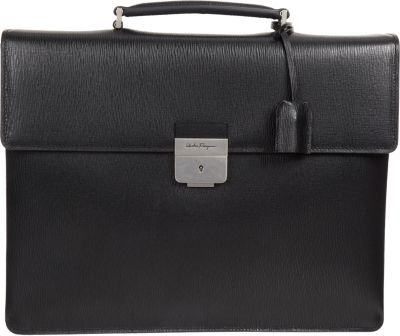 754c45fdf1 ... Salvatore Ferragamo Revival Push Lock Briefcase