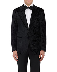 Cifonelli Brocade Burnout Velvet One Button Sportcoat