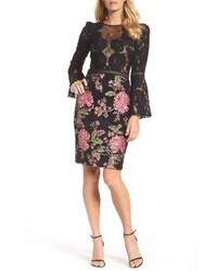 Lace brocade sheath dress medium 5256982